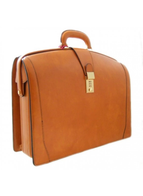 Pratesi Brunelleschi Briefcase in cow leather - Radica Mustard