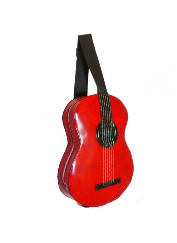 Pratesi Da Filicaja Guitar Backpack in cow leather - Radica Cherry