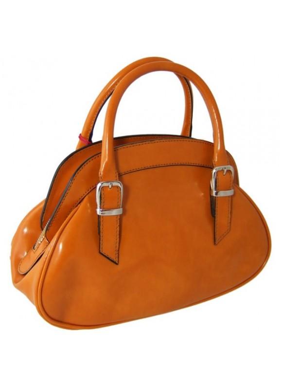 Pratesi Giotto Handbag in cow leather - Radica Mustard