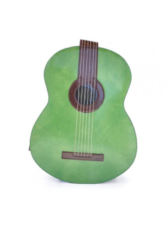 Pratesi Da Filicaja Guitar Backpack in cow leather - Radica Green