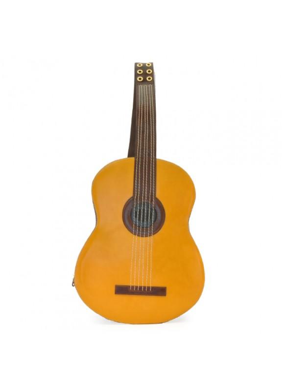 Pratesi Da Filicaja Guitar Backpack in cow leather - Radica Mustard