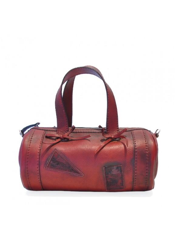 Pratesi Handbag Marisol Small in cow leather - Bruce Cherry