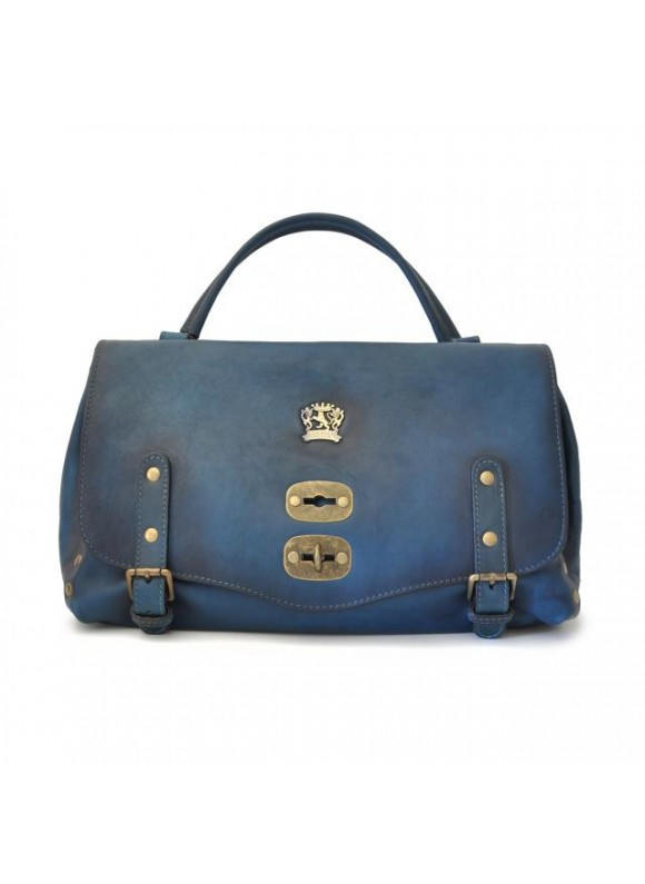'Pratesi Woman Bag Castell''Azzara in cow leather - Bruce Blue'