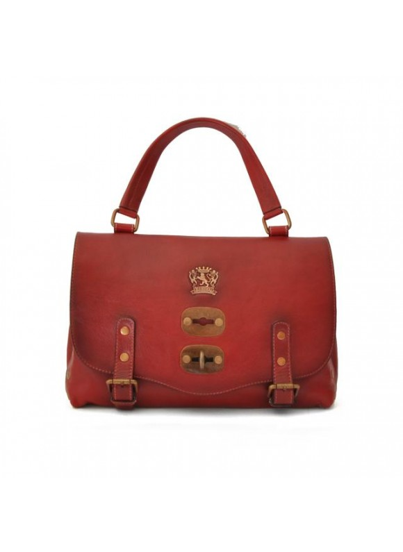 'Pratesi Woman Bag Castell''Azzara Small in cow leather - Bruce Cherry'