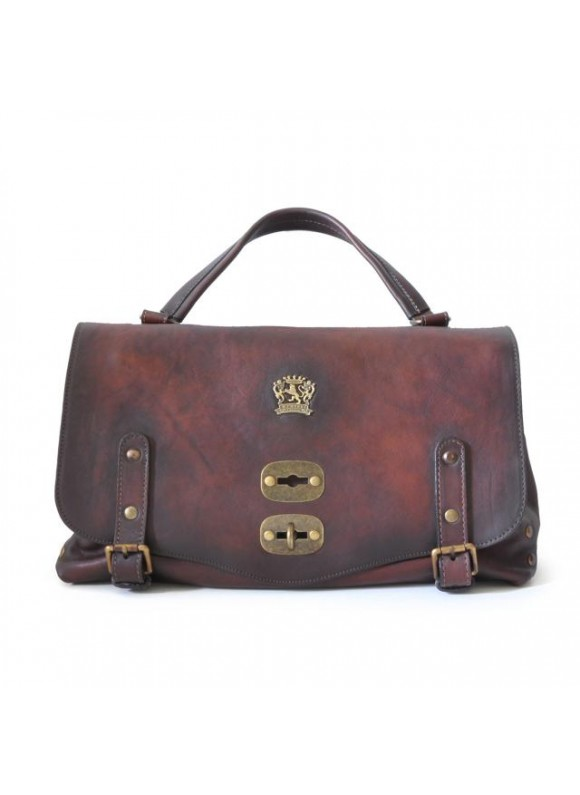 'Pratesi Woman Bag Castell''Azzara in cow leather - Bruce Coffee'