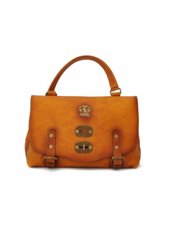 'Pratesi Woman Bag Castell''Azzara Small in cow leather - Bruce Cognac'