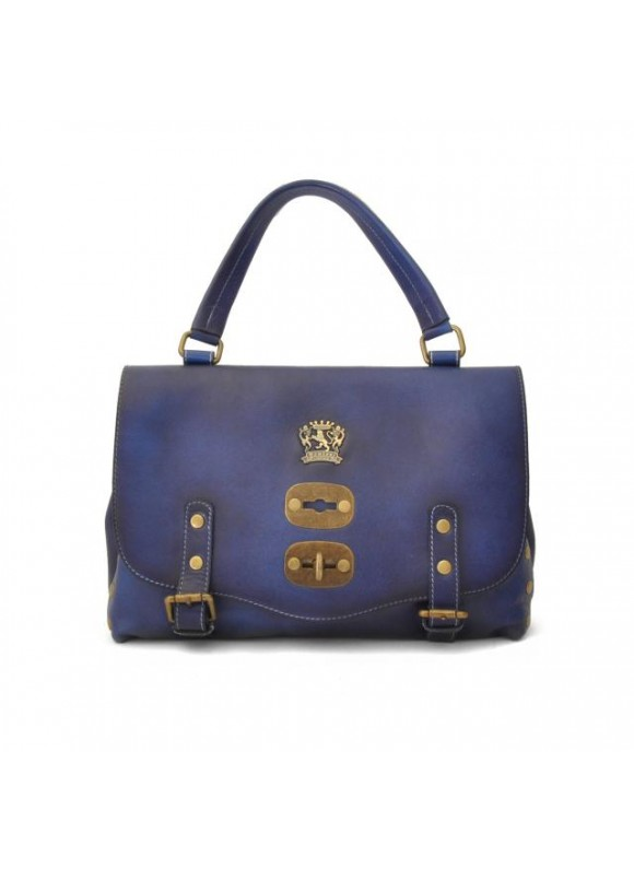 'Pratesi Woman Bag Castell''Azzara Small in cow leather - Bruce Electric Blue'