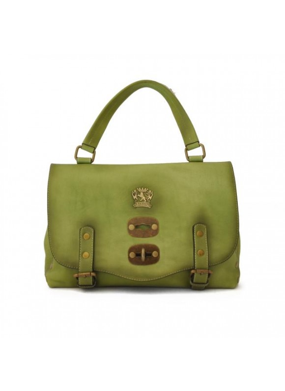 'Pratesi Woman Bag Castell''Azzara Small in cow leather - Bruce Green'