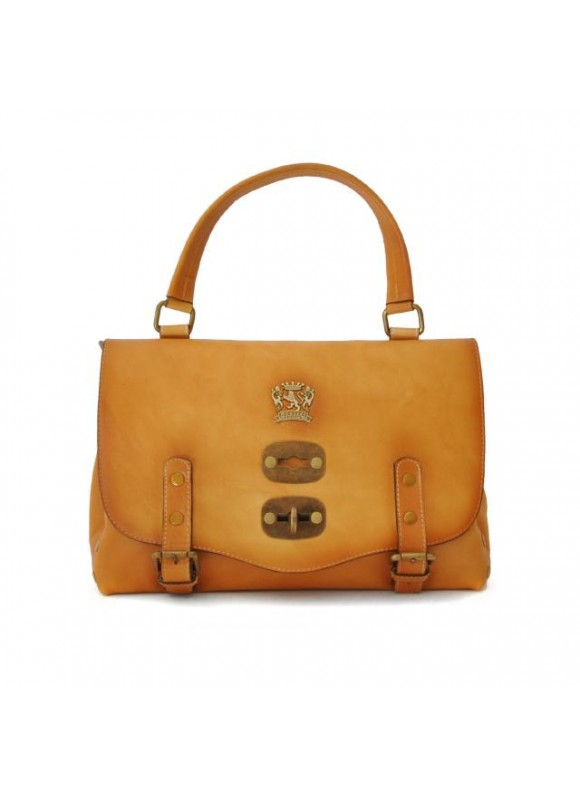 'Pratesi Woman Bag Castell''Azzara Small in cow leather - Bruce Mustard'