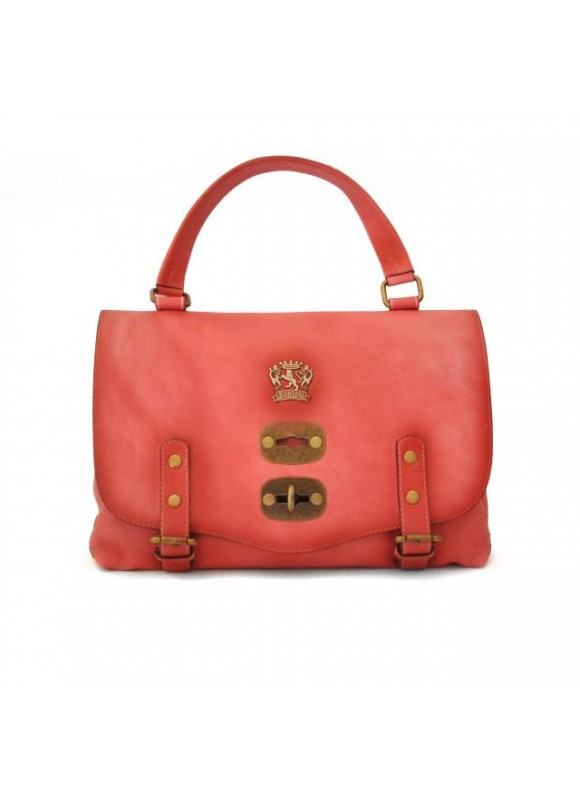 'Pratesi Woman Bag Castell''Azzara Small in cow leather - Bruce Pink'