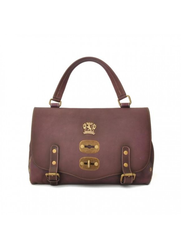 'Pratesi Woman Bag Castell''Azzara Small in cow leather - Bruce Violet'