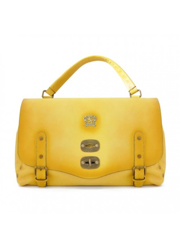 'Pratesi Woman Bag Castell''Azzara in cow leather - Bruce yellow'