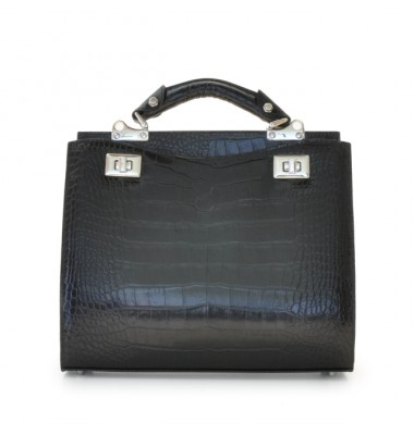 'Pratesi Anna Maria Luisa de'' Medici Medium King Lady Bag in cow leather - King Black'