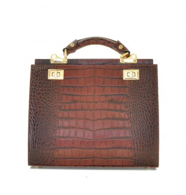 'Pratesi Anna Maria Luisa de'' Medici Medium King Lady Bag in cow leather - King Brown'