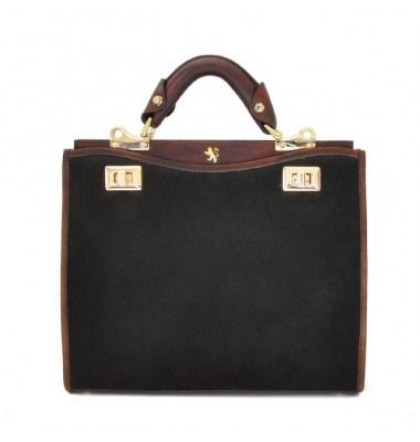'Pratesi Anna Maria Luisa de'' Medici Medium Cavallino Lady Bag in real leather - Cavallino Coffee'