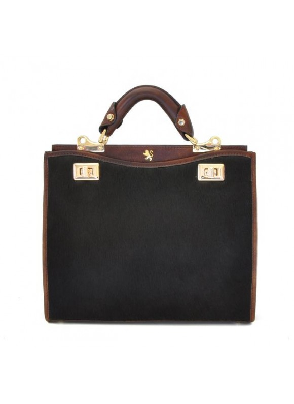 'Pratesi Anna Maria Luisa de'' Medici Medium Cavallino Lady Bag in real leather - Cavallino Coffee'