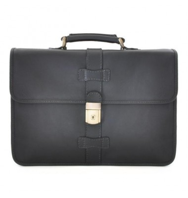 Pratesi Briefcase Anghiari in cow leather - Bruce Black
