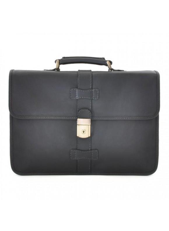 Pratesi Briefcase Anghiari in cow leather - Bruce Black