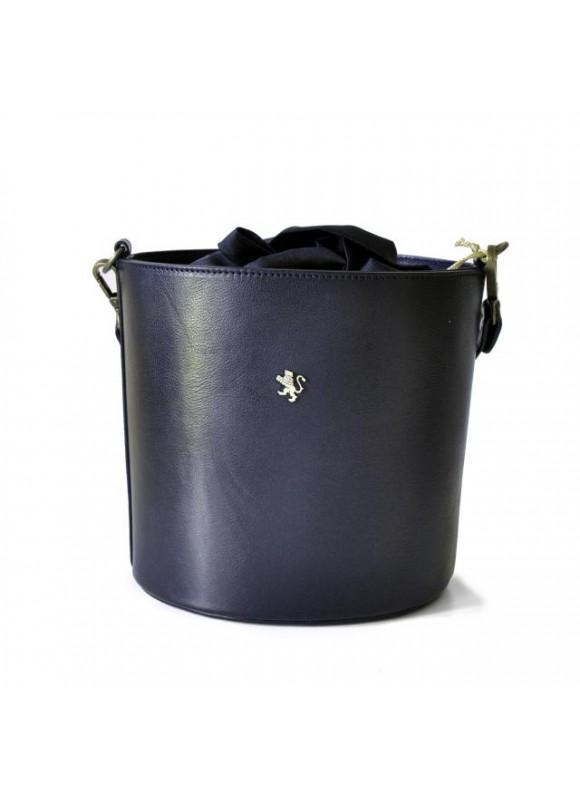 Pratesi Cross-Body Bag Secchiello in cow leather - Bruce Black