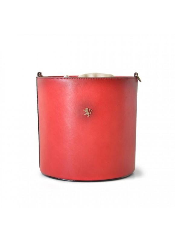 Pratesi Cross-Body Bag Secchiello in cow leather - Bruce Cherry