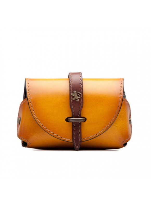 Pratesi Tote Bag Buonconvento in cow leather - Bruce Mustard