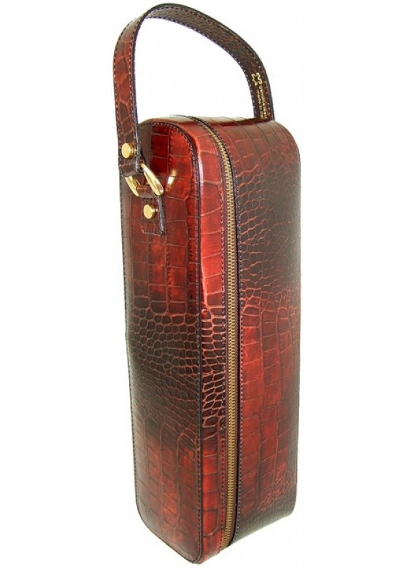 Pratesi Bacco King Wine Case in cow leather - King Brown