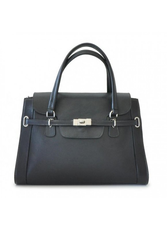 Pratesi Handbag Baratti in cow leather - Bruce Black