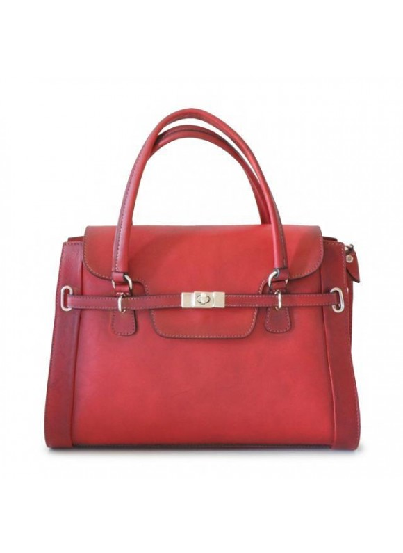 Pratesi Handbag Baratti in cow leather - Bruce Cherry
