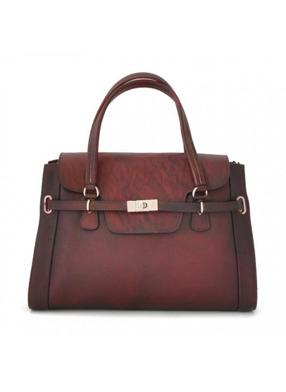 Pratesi Handbag Baratti in cow leather - Bruce Chianti