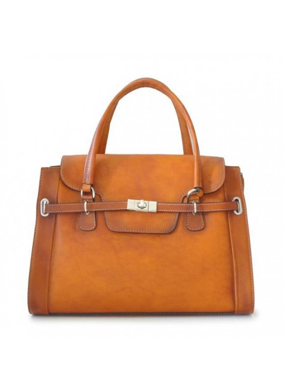 Pratesi Handbag Baratti in cow leather - Bruce Cognac