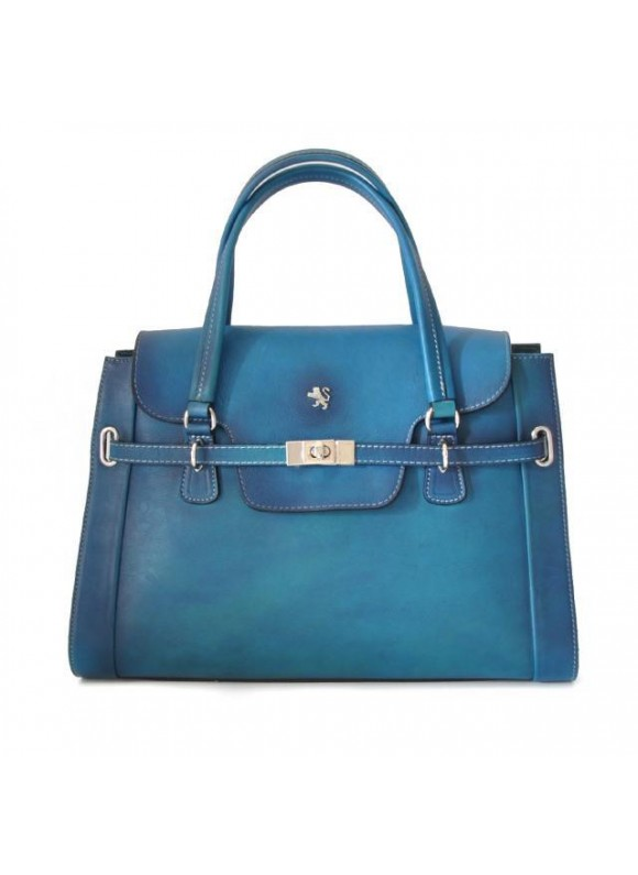 Pratesi Handbag Baratti in cow leather - Radica Electric Blue
