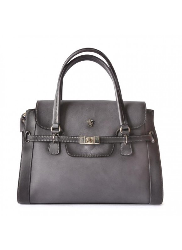 Pratesi Handbag Baratti in cow leather - Bruce Grigio