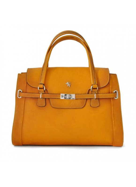 Pratesi Handbag Baratti in cow leather - Bruce Mustard