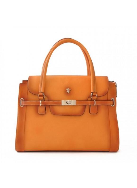 Pratesi Handbag Baratti in cow leather - Bruce Orange