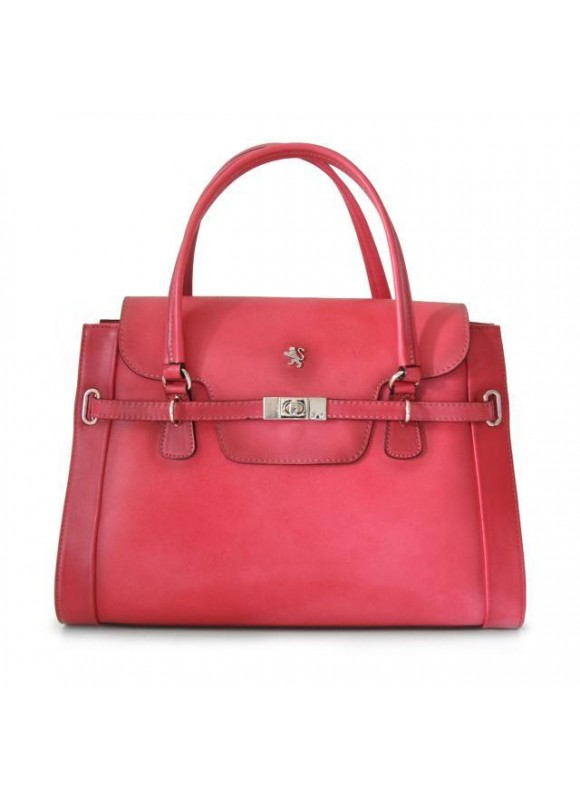 Pratesi Handbag Baratti in cow leather -Bruce Pink