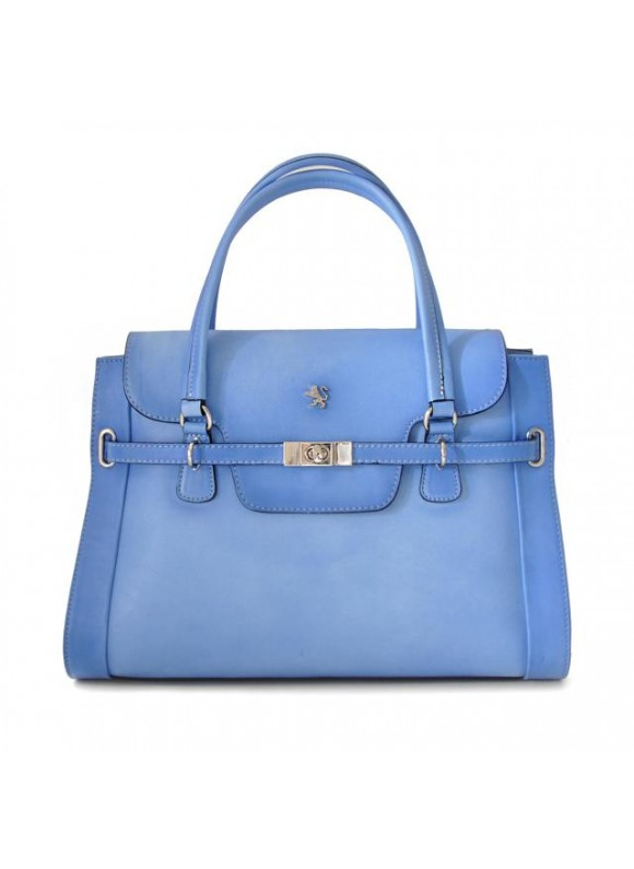 Pratesi Handbag Baratti in cow leather - Bruce Sky Blue