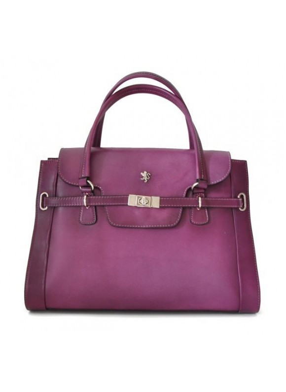 Pratesi Handbag Baratti in cow leather - Bruce Violet
