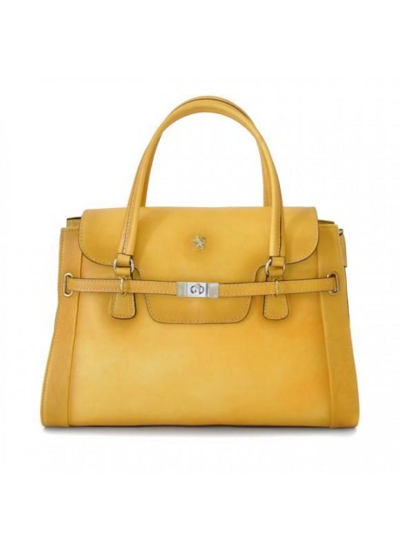 Pratesi Handbag Baratti in cow leather - Bruce Yellow