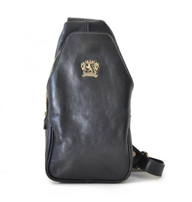 'Pratesi Backpack San Quirico d''Orcia in cow leather - Bruce Black'