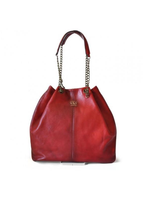 Pratesi Shoulder Bag Barga in cow leather - Bruce Cherry