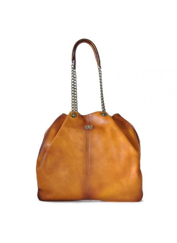 Pratesi Shoulder Bag Barga in cow leather - Bruce Cognac