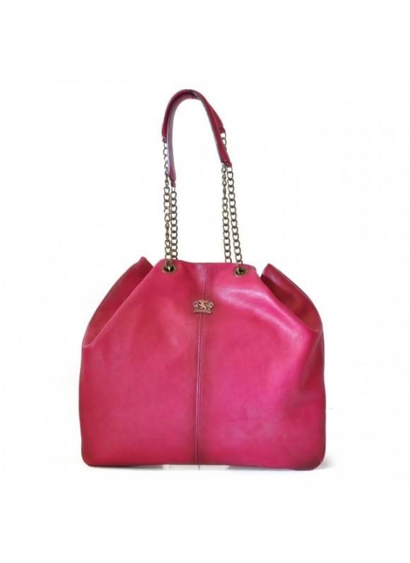 Pratesi Shoulder Bag Barga in cow leather - Bruce Fuchsia