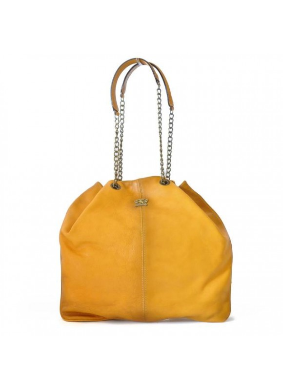 Pratesi Shoulder Bag Barga in cow leather - Bruce Mustard