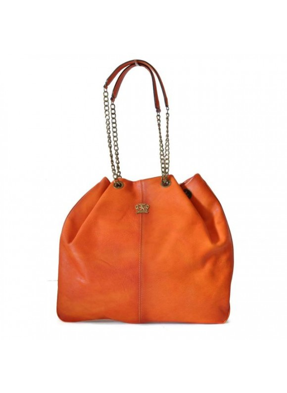 Pratesi Shoulder Bag Barga in cow leather - Bruce Orange