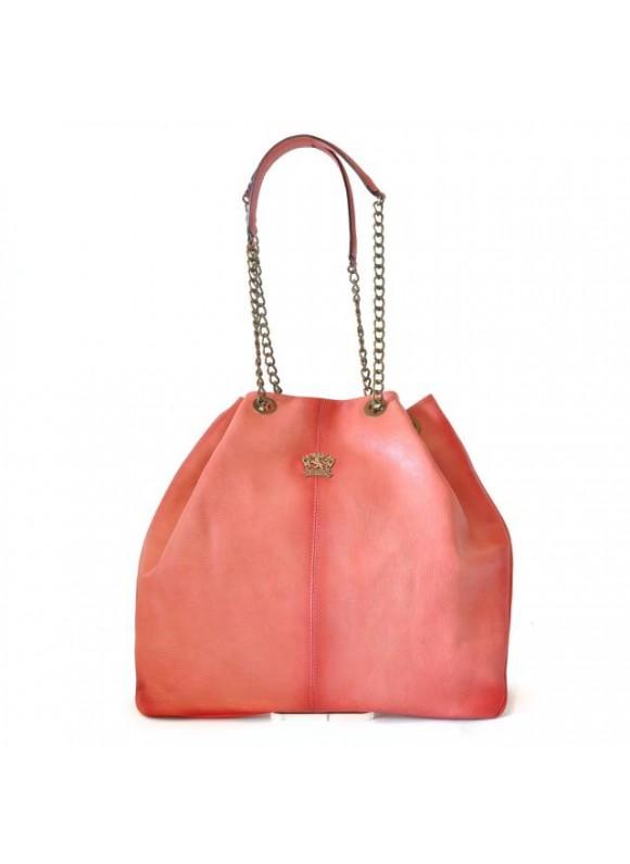 Pratesi Shoulder Bag Barga in cow leather - Bruce Pink