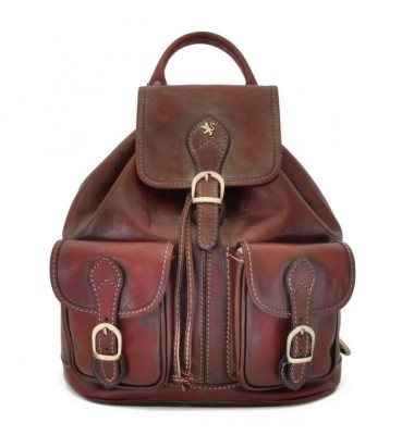 Pratesi Backpack Caporalino in cow leather - Bruce Chianti