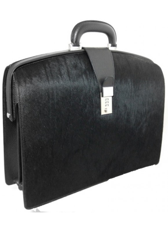 Pratesi Brunelleschi Bold Cavallino Briefcase for Laptop in real leather - Cavallino Black