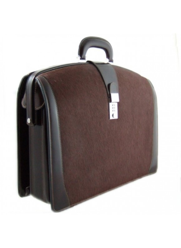 Pratesi Brunelleschi Cavallino Briefcase for Laptop in real leather - Cavallino Coffee