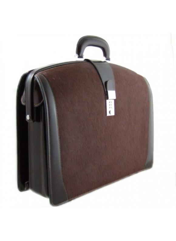 Pratesi Brunelleschi Cavallino Briefcase for Laptop in real leather - Cavallino Coffee