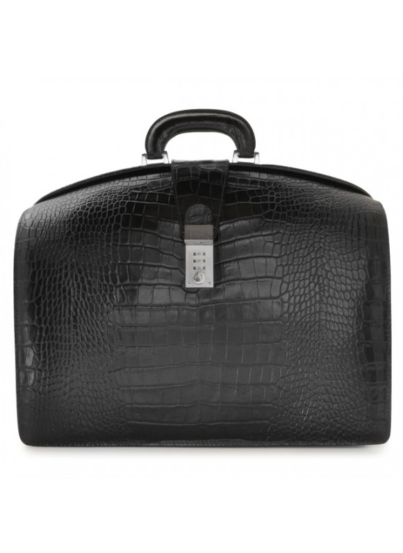 Pratesi Brunelleschi King Briefcase in cow leather - King Black